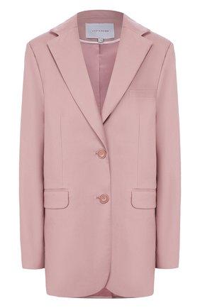 Женский кожаный жакет LESYANEBO розового цвета, арт. SS20/Н-468/VL   Фото 1