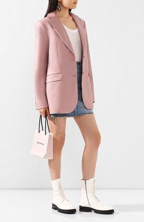 Женский кожаный жакет LESYANEBO розового цвета, арт. SS20/Н-468/VL   Фото 2