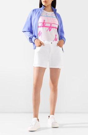 Женские джинсовые шорты FRAME DENIM белого цвета, арт. LBUSCF171 | Фото 2