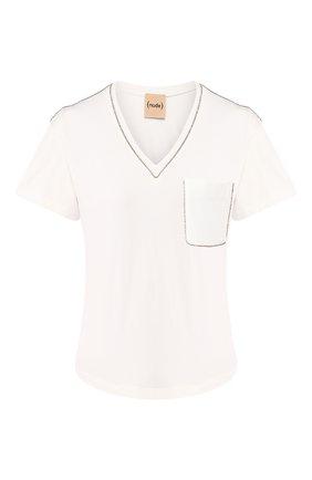 Женская хлопковая футболка NUDE белого цвета, арт. 1103785/T-SHIRT | Фото 1