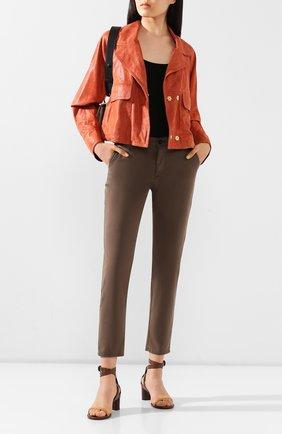 Женские брюки AG хаки цвета, арт. SBW1613/P0RD | Фото 2
