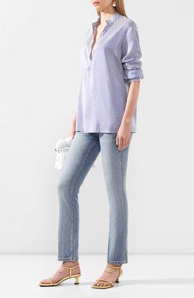 Женская шелковая рубашка TWINS FLORENCE голубого цвета, арт. TWFPE20CAM0003 | Фото 2