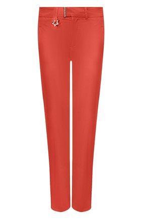 Женские хлопковые брюки LORENA ANTONIAZZI оранжевого цвета, арт. E2003PA042/3193 | Фото 1