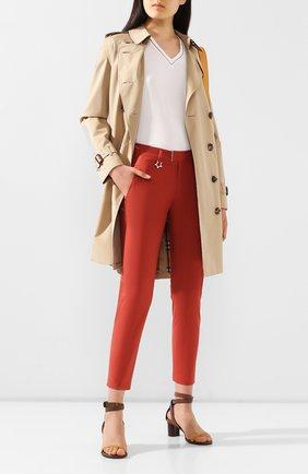 Женские хлопковые брюки LORENA ANTONIAZZI оранжевого цвета, арт. E2003PA042/3193 | Фото 2