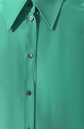 Женская шелковая рубашка DOLCE & GABBANA зеленого цвета, арт. F5M51T/FU1UQ | Фото 5