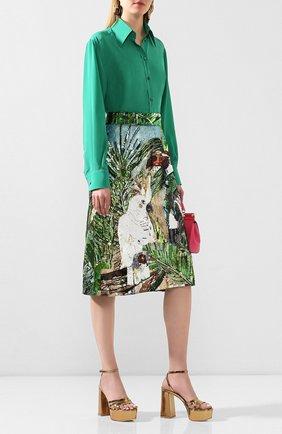 Женская шелковая юбка с пайетками DOLCE & GABBANA разноцветного цвета, арт. F4BV7Z/GD0D8 | Фото 2