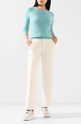 Женская кашемировый пуловер POLO RALPH LAUREN зеленого цвета, арт. 211780379 | Фото 2