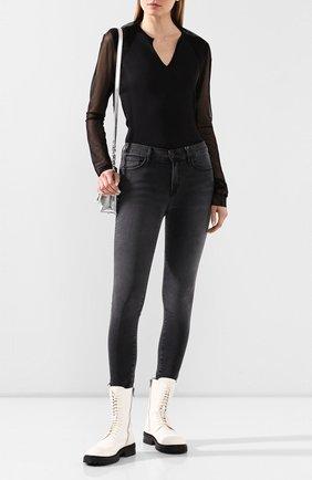 Женская лонгслив Y`S черного цвета, арт. YN-T48-832 | Фото 2