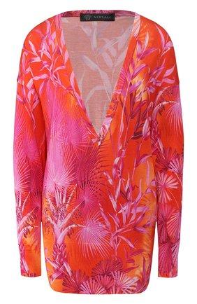 Женская шелковый пуловер VERSACE фуксия цвета, арт. A86339/A234741 | Фото 1