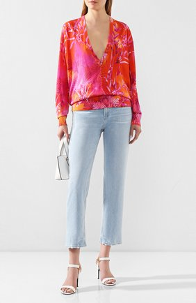 Женская шелковый пуловер VERSACE фуксия цвета, арт. A86339/A234741 | Фото 2
