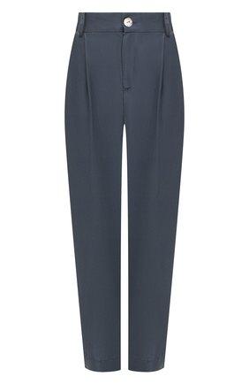 Женские шелковые брюки VINCE темно-синего цвета, арт. V654821788 | Фото 1