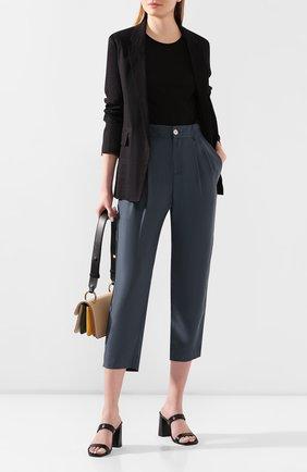 Женские шелковые брюки VINCE темно-синего цвета, арт. V654821788 | Фото 2