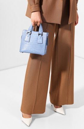 Женская сумка GIORGIO ARMANI голубого цвета, арт. Y1D148/YTE6A | Фото 2