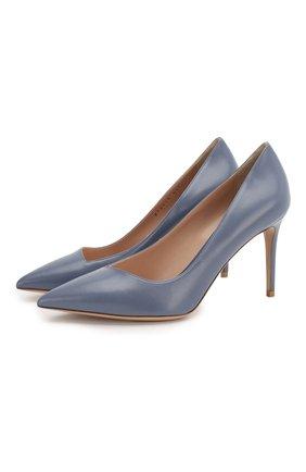 Женская кожаные туфли GIORGIO ARMANI голубого цвета, арт. X1E719/XC087 | Фото 1