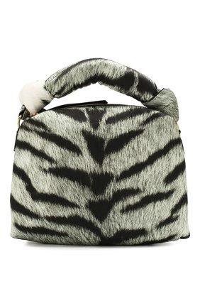 Женская сумка DRIES VAN NOTEN серого цвета, арт. 201-11504-764 | Фото 1