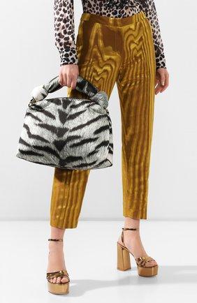 Женская сумка DRIES VAN NOTEN серого цвета, арт. 201-11504-764 | Фото 2