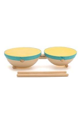 Детского игрушка двойной барабан PLAN TOYS разноцветного цвета, арт. 6425 | Фото 2