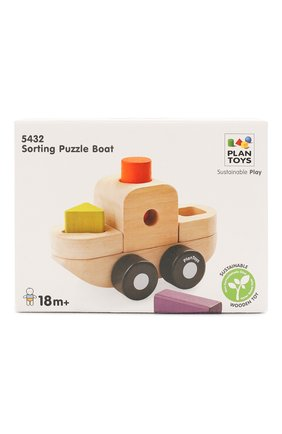 Детского игрушка сортер корабль PLAN TOYS разноцветного цвета, арт. 5432 | Фото 1