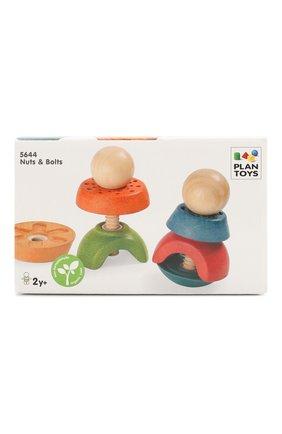 Детского развивающая игра гайки и болты PLAN TOYS разноцветного цвета, арт. 5644 | Фото 1