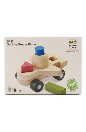 Детского игрушка сортер самолёт PLAN TOYS разноцветного цвета, арт. 5431 | Фото 1