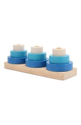 Детского игрушка пирамидка трио PLAN TOYS разноцветного цвета, арт. 5368 | Фото 2