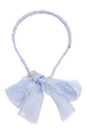 Детского ободок TWINSET синего цвета, арт. 201GJ4Q85 | Фото 1
