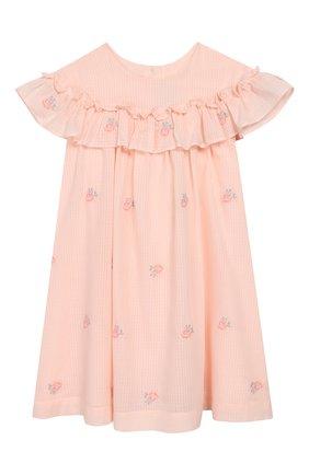 Женский хлопковое платье TARTINE ET CHOCOLAT розового цвета, арт. TQ30161/4A-5A | Фото 1