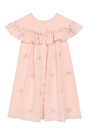 Женский хлопковое платье TARTINE ET CHOCOLAT розового цвета, арт. TQ30161/4A-5A | Фото 2