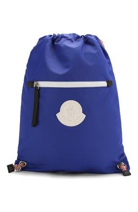 Детская рюкзак MONCLER синего цвета, арт. F1-954-5A700-10-02SA9 | Фото 1