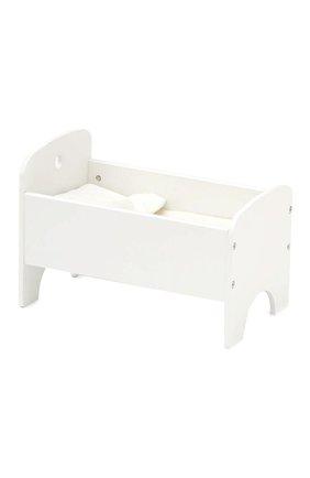 Детского игрушечная кровать для кукол KID`S CONCEPT белого цвета, арт. 1000433 | Фото 1