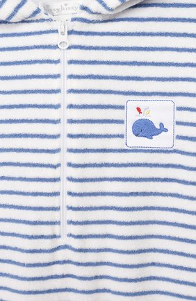 Детский хлопковый комбинезон KISSY KISSY синего цвета, арт. KBR03563I   Фото 3