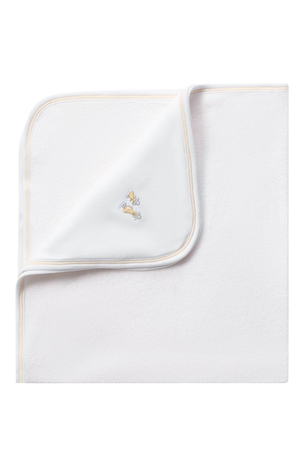 Детского комплект из полотенца и рукавицы KISSY KISSY белого цвета, арт. KN403463O | Фото 4 (Материал: Текстиль, Хлопок)