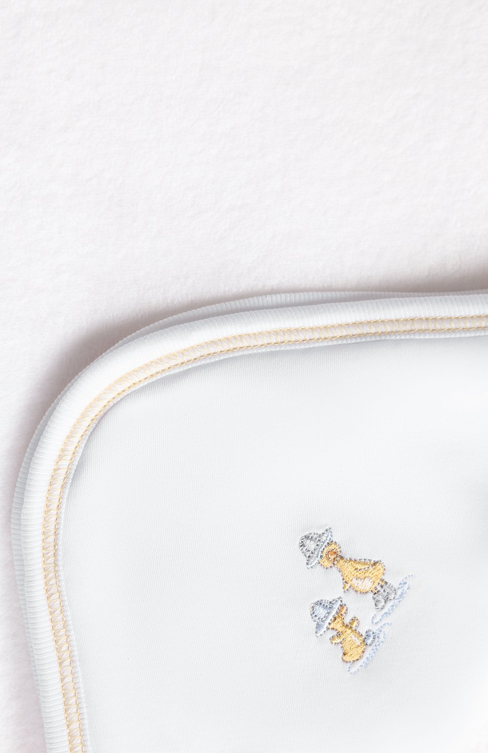 Детского комплект из полотенца и рукавицы KISSY KISSY белого цвета, арт. KN403463O | Фото 5 (Материал: Текстиль, Хлопок)