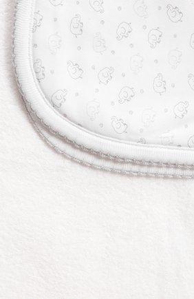 Детского комплект из полотенца и рукавицы KISSY KISSY серого цвета, арт. 48609 | Фото 5 (Материал: Текстиль, Хлопок)