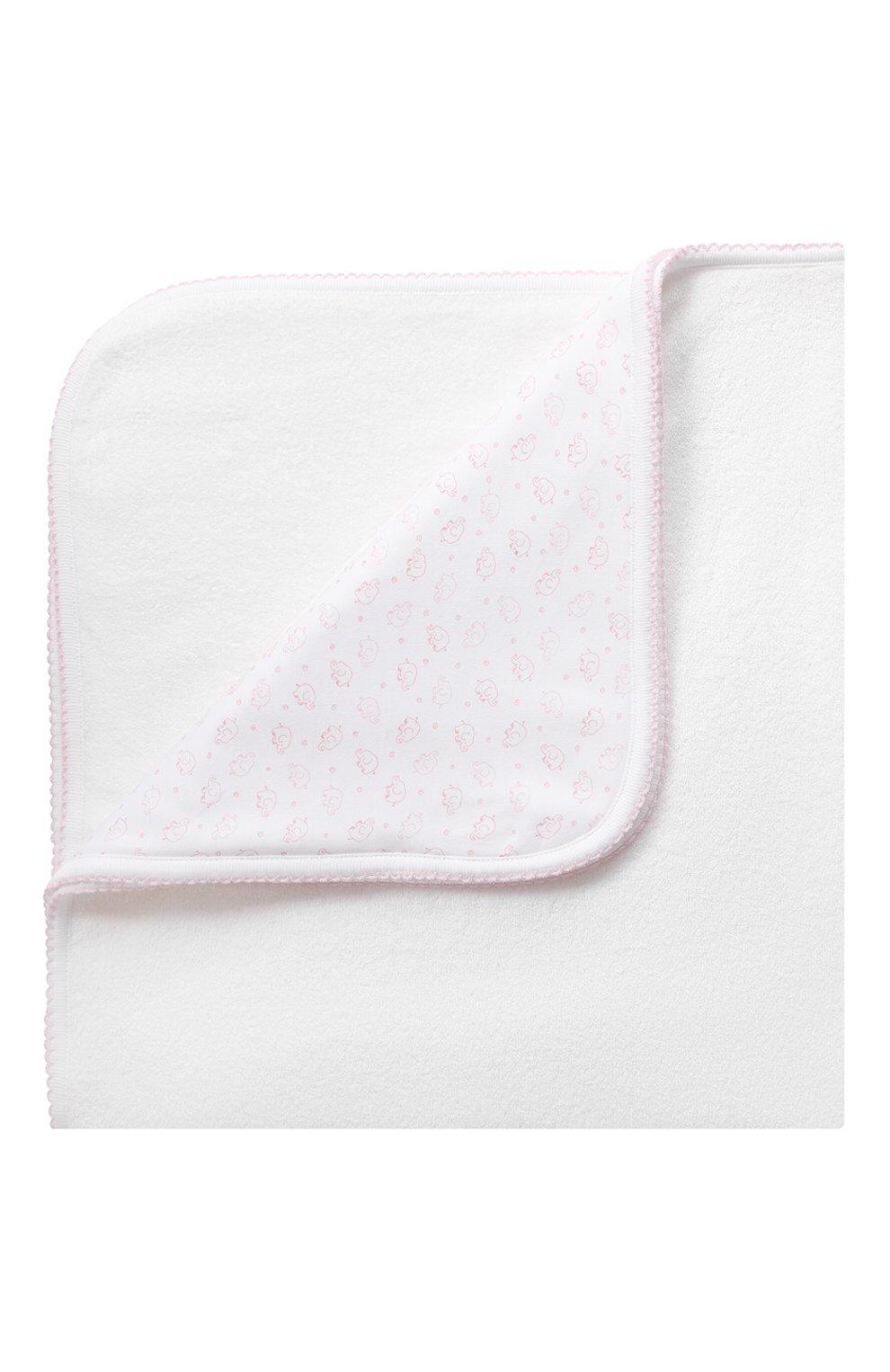 Детского комплект из полотенца и рукавицы KISSY KISSY розового цвета, арт. 48609 | Фото 4 (Материал: Текстиль, Хлопок)