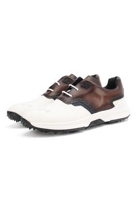 Мужские кожаные кроссовки BERLUTI разноцветного цвета, арт. S5062-001 | Фото 1