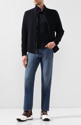 Мужские кожаные кроссовки BERLUTI разноцветного цвета, арт. S5062-001 | Фото 2
