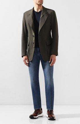 Мужские кожаные кроссовки BERLUTI темно-коричневого цвета, арт. S5062-002 | Фото 2