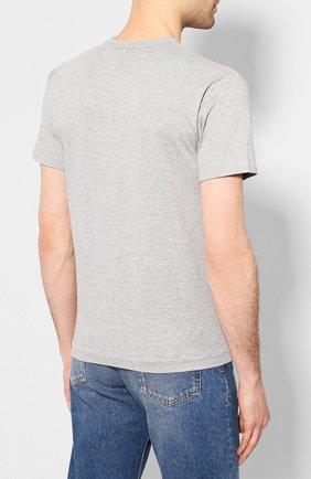 Мужская хлопковая футболка COMME DES GARCONS PLAY серого цвета, арт. AZ-T226 | Фото 4
