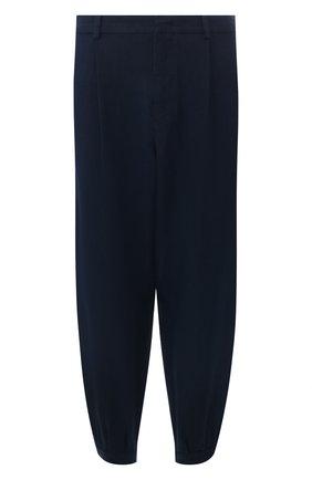 Мужской льняные брюки GIORGIO ARMANI темно-синего цвета, арт. 0SGPP0AW/T00PI | Фото 1