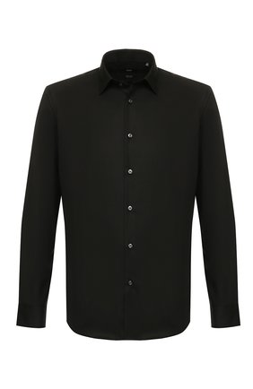 Мужская хлопковая сорочка BOSS черного цвета, арт. 50416086 | Фото 1