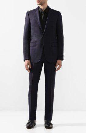 Мужская хлопковая сорочка BOSS черного цвета, арт. 50416086 | Фото 2