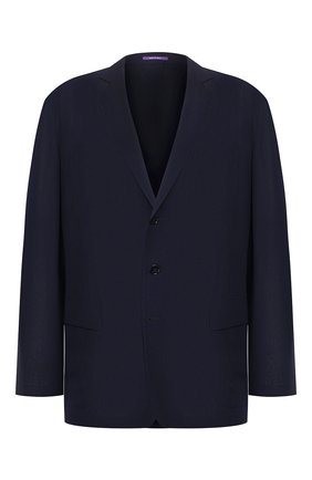 Мужской шерстяной пиджак RALPH LAUREN темно-синего цвета, арт. 798744017 | Фото 1