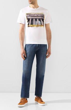 Мужская хлопковая футболка BILLIONAIRE белого цвета, арт. I20C MTK4393 BTE014N   Фото 2