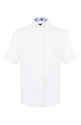 Мужская льняная рубашка PAUL&SHARK белого цвета, арт. E20P3069 | Фото 1