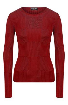 Женский шелковый пуловер GIORGIO ARMANI красного цвета, арт. 3HAM14/AM39Z | Фото 1