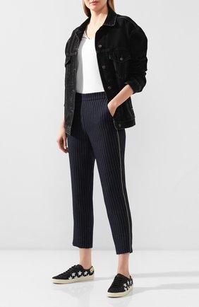 Женские брюки из вискозы ZADIG&VOLTAIRE черного цвета, арт. SJCE0108F   Фото 2