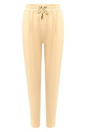 Женские хлопковые брюки DOROTHEE SCHUMACHER бежевого цвета, арт. 723002/CASUAL REV0LUTI0N | Фото 1