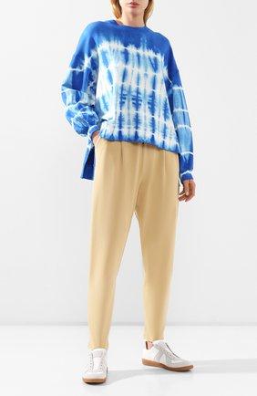 Женские хлопковые брюки DOROTHEE SCHUMACHER бежевого цвета, арт. 723002/CASUAL REV0LUTI0N | Фото 2