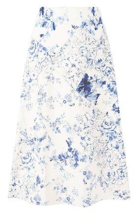 Женская кожаная юбка RALPH LAUREN белого цвета, арт. 290799300 | Фото 1